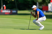 Julian Suri (USA) on the 15th green during the 3rd round at the WGC HSBC Champions 2018, Sheshan Golf CLub, Shanghai, China. 27/10/2018.<br /> Picture Fran Caffrey / Golffile.ie<br /> <br /> All photo usage must carry mandatory copyright credit (&copy; Golffile | Fran Caffrey)
