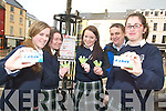 STICK TO IT: Students from Presentation Secondary School in Tralee have launched a new initiative to keep the ground gum free. From l-r were :Joanne Kelliher, Elaine O'Conor, Brendan Murphy (Tralee Litter Warden) and Dearbhail O'Donnell.   Copyright Kerry's Eye 2008