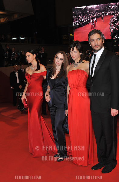 """Monica Bellucci (left), Marina De Van, Sophie Marceau & Andrea Di Stefano at the premiere for their new movie """"Don't Look Back"""" which is in competition at the 62nd Festival de Cannes..May 16, 2009  Cannes, France.Picture: Paul Smith / Featureflash"""