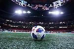 ATLANTA, GEORGIA - DECEMBER 08: MLS Cup match ball. Atlanta United FC and the Portland Timbers played on December 8, 2018, at Mercedes Benz Stadium in Atlanta, Georgia in MLS Cup 2018. Atlanta United won the championship final 2-0.