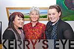 At the opening night of the Éigse na Brídeoíge festival in Ionad na Dromada were l-r; Sandra O'Shea, Bríd Ní Mhathúna(artist) & Kate O'Shea.