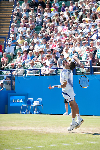 16th June 2010 Aegon International Tennis. James Ward of GBR playing Rainer Schuettler of GER.  Aegon International Tennis Tournament Eastbourne, Played at Devonshire Park, England.