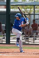 Chicago Cubs first baseman Bijan Rademacher (29) during a Minor League Spring Training game against the Colorado Rockies at Sloan Park on March 27, 2018 in Mesa, Arizona. (Zachary Lucy/Four Seam Images)