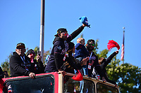 Washington, DC - November 2, 2019: Washington Nationals playesr participate in the parade for the team in Washington, D.C. November 2, 2019, after the Nationals won the World Series Championship against the Houston Astros.   (Photo by Don Baxter/Media Images International)