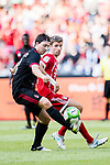 AC Milan Midfielder Riccardo Montolivo (L) fights for the ball with Bayern Munich Forward Thomas Muller (R) during the 2017 International Champions Cup China  match between FC Bayern and AC Milan at Universiade Sports Centre Stadium on July 22, 2017 in Shenzhen, China. Photo by Marcio Rodrigo Machado / Power Sport Images