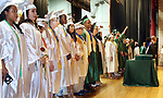 WATERBURY CT. 21 June 2017-062117SV13-Graduates  on stage during the Wilby High Graduation in Waterbury Wednesday.<br /> Steven Valenti Republican-American