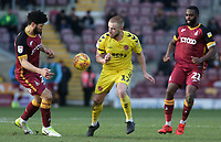 Fleetwood Town's Paddy Madden vies for possession with Bradford City's Nat Knight-Percival<br /> <br /> Photographer David Shipman/CameraSport<br /> <br /> The EFL Sky Bet League One - Bradford City v Fleetwood Town - Saturday 9th February 2019 - Valley Parade - Bradford<br /> <br /> World Copyright &copy; 2019 CameraSport. All rights reserved. 43 Linden Ave. Countesthorpe. Leicester. England. LE8 5PG - Tel: +44 (0) 116 277 4147 - admin@camerasport.com - www.camerasport.com