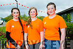 Zara Harnett, Emer Nolan and Mairead Kearney at the Cycle against suicide Mercy Mounthawk School Welcome on Sunday