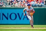 29 April 2017: New York Mets infielder Asdrubal Cabrera in 4th inning action against the Washington Nationals at Nationals Park in Washington, DC. The Mets defeated the Nationals 5-3 to take the second game of their 3-game weekend series. Mandatory Credit: Ed Wolfstein Photo *** RAW (NEF) Image File Available ***