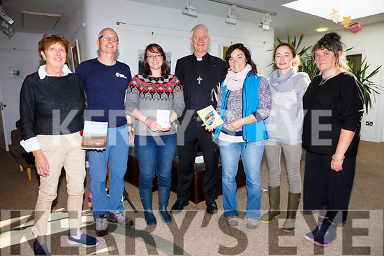 Attending the Iveragh Learning Landscapes Workshops on Sunday in Tech Amergin were l-r; Jean Byrne(Imagining Iveragh & NAISC), Thomas Alwyard(IT Tralee - Outdoor Education), Eleanor Turner, Bishop Ray Browne, Lucy Hunt, Aoife Quinlan & Dr. Anita McKeown(NAISC).