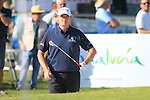 Paul Lawrie (SCO) prepares to chip out of a bunker at the 18th and final hole during the Final Day Sunday of the Open de Andalucia de Golf at Parador Golf Club Malaga 27th March 2011. (Photo Eoin Clarke/Golffile 2011)