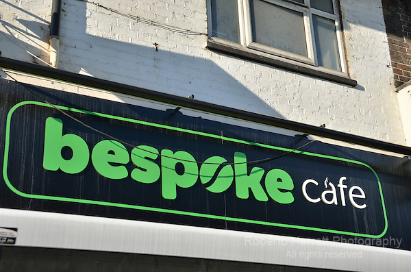 Bespoke Cafe in Ballards Lane, Finchley, London, UK.
