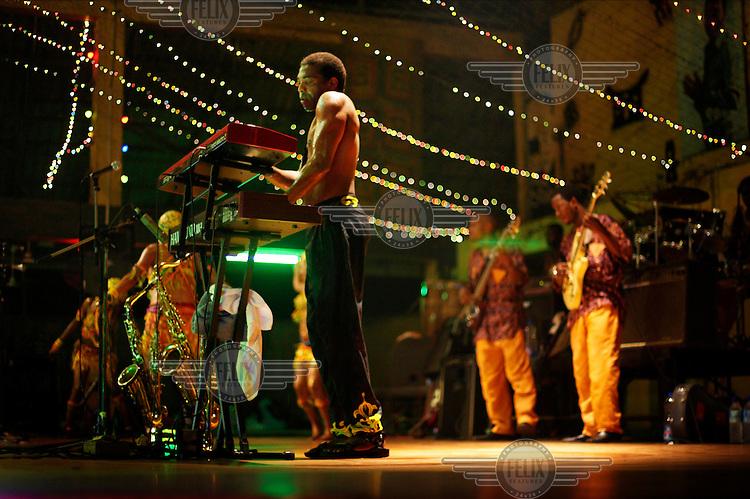 Femi Kuti in concert at The New Africa Shrine.