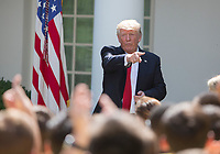 United States President Donald J. Trump delivers remarks to the American Legion Boys Nation and the American Legion Auxiliary Girls Nation in the Rose Garden of The White House in Washington, DC, July 26, 2017. <br /> Credit: Chris Kleponis / CNP /MediaPunch
