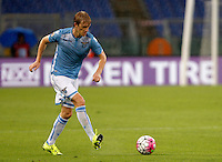 Calcio, Serie A: Lazio vs Udinese. Roma, stadio Olimpico, 13 settembre 2015.<br /> Lazio&rsquo;s Dusan Basta in action during the Italian Serie A football match between Lazio and Udinese at Rome's Olympic stadium, 13 September 2015.<br /> UPDATE IMAGES PRESS/Isabella Bonotto