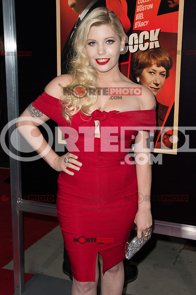"November 20, 2012 - Beverly Hills, California - Emma Jacobs at the ""Hitchcock"" Los Angeles Premiere held at the Academy of Motion Picture Arts and Sciences Samuel Goldwyn Theater. Photo Credit: Colin/Starlite/MediaPunch Inc"