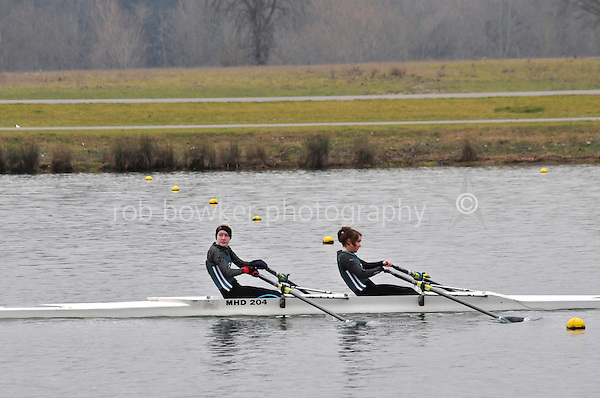 548 Maidenhead RC W.J14A.2x..Marlow Regatta Committee Thames Valley Trial Head. 1900m at Dorney Lake/Eton College Rowing Centre, Dorney, Buckinghamshire. Sunday 29 January 2012. Run over three divisions.
