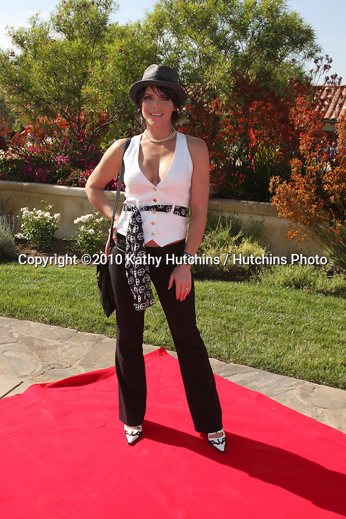 Lesli Kay.arrives at the Birgit C. Muller Fashion Show at.Chaves Ranch in.Los Angeles, CA on.July 11, 2010.©2010 Kathy Hutchins / Hutchins Photo.....