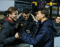 Goalscorer Scott Kashket of Wycombe Wanderers with fans after the Sky Bet League 2 match between Wycombe Wanderers and Leyton Orient at Adams Park, High Wycombe, England on 17 December 2016. Photo by David Horn / PRiME Media Images.