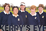 LADIES CLUB: Members of the Killarney Ladies Golf and Fishing Club who were playing Waterville Ladies Golf Club in the second round of the AA Ladies Championship at Ardfert Golf Club on Sunday afternoon, l-r: Geraldine Rosney, Susan Tong, Eileen Tarrant, Kathleen Wrenn and Kathy Brosnan.   Copyright Kerry's Eye 2008