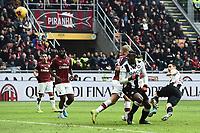 Kevin Lasagna of Udinese Calcio scores the goal of 2-2 <br /> Milano 19/01/2020 Stadio Giuseppe Meazza <br /> Football Serie A 2019/2020 <br /> AC Milan - Udinese Calcio <br /> Photo Image Sport / Insidefoto