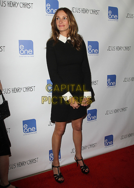 Julia Roberts.'Jesus Henry Christ' Los Angeles Premiere Held at Mann Chinese 6. Hollywood, California, USA..18th April 2012.full length dress  black white collar cuffs clutch bag.CAP/ADM/KB.©Kevan Brooks/AdMedia/Capital Pictures