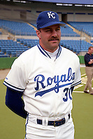 Kansas City Royals Kirk Gibson (30) during spring training circa 1991at Baseball City Stadium in Davenport, Florida.  (MJA/Four Seam Images)