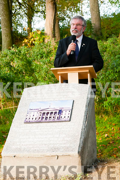Gerry Adams speaking at the unveiling of the memorial to Con Colbert in Athea on Saturday last.