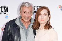 LONDON, UK. October 8, 2016: Director Paul Verhoeven &amp; Isabelle Huppert at the London Film Festival premiere for &quot;Elle&quot; at the Embankment Gardens Cinema, London.<br /> Picture: Steve Vas/Featureflash/SilverHub 0208 004 5359/ 07711 972644 Editors@silverhubmedia.com