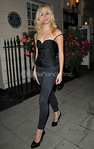 Victoria Louise &quot;Pixie&quot; Lott departs from the stage door after the &quot;Breakfast at Tiffany's&quot; evening performance, Theatre Royal Haymarket, Suffolk Street, London, England, UK, on Tuesday 30 August 2016.<br /> CAP/CAN<br /> &copy;CAN/Capital Pictures /MediaPunch ***NORTH AND SOUTH AMERICAS ONLY***