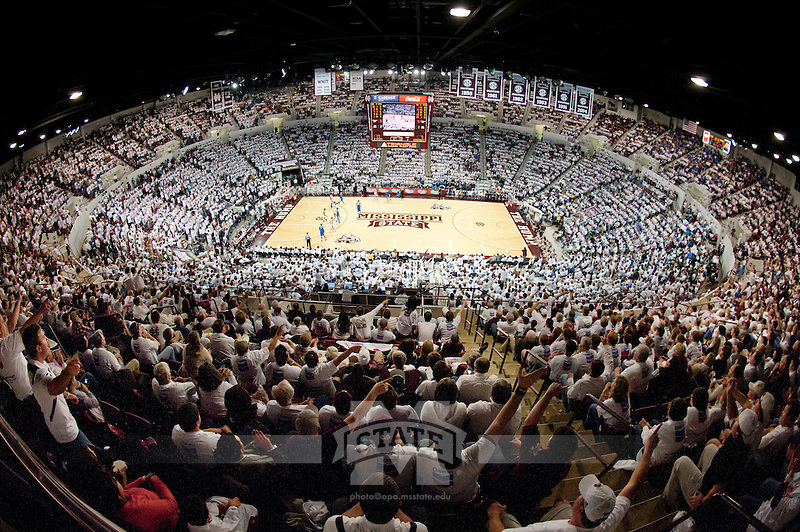White out at the Hump with a fisheye. (photo by Beth Wynn / © Mississippi State University)