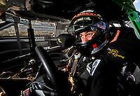Oct 2, 2008; Talladega, AL, USA; ARCA RE/MAX Series driver Joey Logano during qualifying for the Remax 250 at Talladega Superspeedway. Mandatory Credit: Mark J. Rebilas-