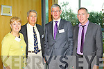 Pictured at the Kerry Business Diaspora at the IT Tralee on Friday were from left: Sue Nelson & Michael Nelson (California), Adrian Mulvihill (Fexco), Denis Nolan (London).