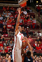 Ohio State Buckeyes forward Sam Thompson (12) throws up a shot against Morgan State Bears during the 2nd half of their game at The Value City Arena at the Jerome Schottenstein Center on November 9, 2013.  (Dispatch photo by Kyle Robertson)
