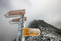 The Augstbordpass, along stage 12 of the Walker's Haute Route, between Gruben and St. Niklaus, Switzerland.