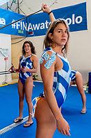 Asimaki GRE  Warm Up<br /> GRE  - ESP  Greece (white cap ) vs Spain (Blue Cap)<br /> FINA LEN Water Polo World League Europa Cup Final Women 2019 - 30/03/2019<br /> Final Fifth Sixth place<br /> Pallanuoto femminile  Women Water Polo<br /> <br /> Palazzo del Nuoto Torino<br /> Photo © Giorgio Scala/Deepbluemedia/Insidefoto