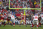 San Francisco 49ers quarterback Alex Smith (11) throws a pass during an NFC Championship NFL football game against the New York Giants at Candlestick Park on January 22, 2012 in San Francisco, California. The Giants won 20-17 in overtime. (AP Photo/David Stluka)