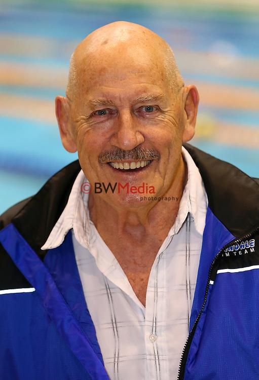 Noel Hardgrave-Booth, coach. Mayfair Pools NZ National Age Group Champs, Wellington Aquatic Centre, Wellington, New Zealand. Wednesday 30 April 2014. Photo: Simon Watts/www.bwmedia.co.nz/Swimming New Zealand