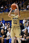 DURHAM, NC - FEBRUARY 01: Georgia Tech's Antonia Peresson (ITA). The Duke University Blue Devils hosted the Georgia Tech University Yellow Jackets on February 1, 2018 at Cameron Indoor Stadium in Durham, NC in a Division I women's college basketball game. Duke won the game 77-59.