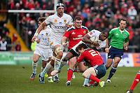 Watisoni Votu is tackled by Cathal Sheridan