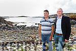 Bryan Sullivan and Connor Murphy pictured at Cuas Pier, Ardgroom overlooking Kenmare Bay at the site of the proposed 500 acre Mussel farm will be located.