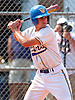 Valley Stream, NY - June 8, 2008: West Islip High School senior / pitcher #7 Nick Tropeano steps into the batter's box during the Long Island varsity baseball Class AA Championship vs. Massapequa at Firemen's Field.  After playing NCAA baseball for three years at Stony Brook University, he was selected by the Houston Astros in the 5th round (160th overall) of the 2011 MLB First Year Player Draft. (Photo by James Escher)