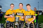Emmets Bryan Sweeney, Noel Kennelly and Niall Collins at the Brosna V Listowel Emmets North Kerry Senior Championship final replay at  Bob Stack Park, Ballybunion on Saturday