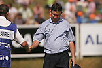 Peter Lawrie being consoled by his caddie after a disappointing third round at the 2008 Open de France ALSTOM at Le Golf National, Paris, France - 28th June 2008 (Photo by Manus O'Reilly/GOLFFILE)