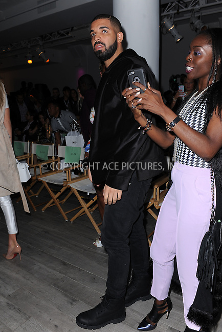 WWW.ACEPIXS.COM<br /> September 15, 2015 New York City<br /> <br /> Drake attending the KIA STYLE360 Hosts Serena Williams Signature Collection By HSN on September 15, 2015 in New York City.<br /> <br /> Credit: Kristin Callahan/ACE Pictures<br /> <br /> Tel: (646) 769 0430<br /> e-mail: info@acepixs.com<br /> web: http://www.acepixs.com