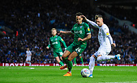 Leeds United's Barry Douglas vies for possession with Sheffield Wednesday's Jacob Murphy<br /> <br /> Photographer Chris Vaughan/CameraSport<br /> <br /> The EFL Sky Bet Championship - Leeds United v Sheffield Wednesday - Saturday 11th January 2020 - Elland Road - Leeds<br /> <br /> World Copyright © 2020 CameraSport. All rights reserved. 43 Linden Ave. Countesthorpe. Leicester. England. LE8 5PG - Tel: +44 (0) 116 277 4147 - admin@camerasport.com - www.camerasport.com