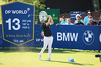 Bernd Wiesberger (AUT) on the 13th tee on the 13th tee during the 3rd round of the DP World Tour Championship, Jumeirah Golf Estates, Dubai, United Arab Emirates. 23/11/2019<br /> Picture: Golffile | Phil Inglis<br /> <br /> <br /> All photo usage must carry mandatory copyright credit (© Golffile | Phil Inglis)