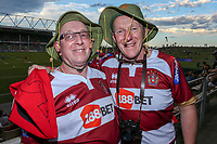 Picture by David Neilson/SWpix.com/PhotosportNZ - 10/02/2018 - Rugby League - Betfred Super League - Wigan Warriors v Hull FC  - WIN Stadium, Wollongong, Australia - Wigan fans.