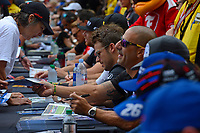 Verizon IndyCar Series<br /> Indianapolis 500 Drivers Meeting<br /> Indianapolis Motor Speedway, Indianapolis, IN USA<br /> Saturday 27 May 2017<br /> Driver's autograph session: Tony Kanaan, Chip Ganassi Racing Teams Honda, Marco Andretti, Andretti Autosport with Yarrow Honda<br /> World Copyright: F. Peirce Williams