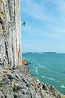 James Taylor on 'The Great White' E7 6c, White Tower, Pembroke